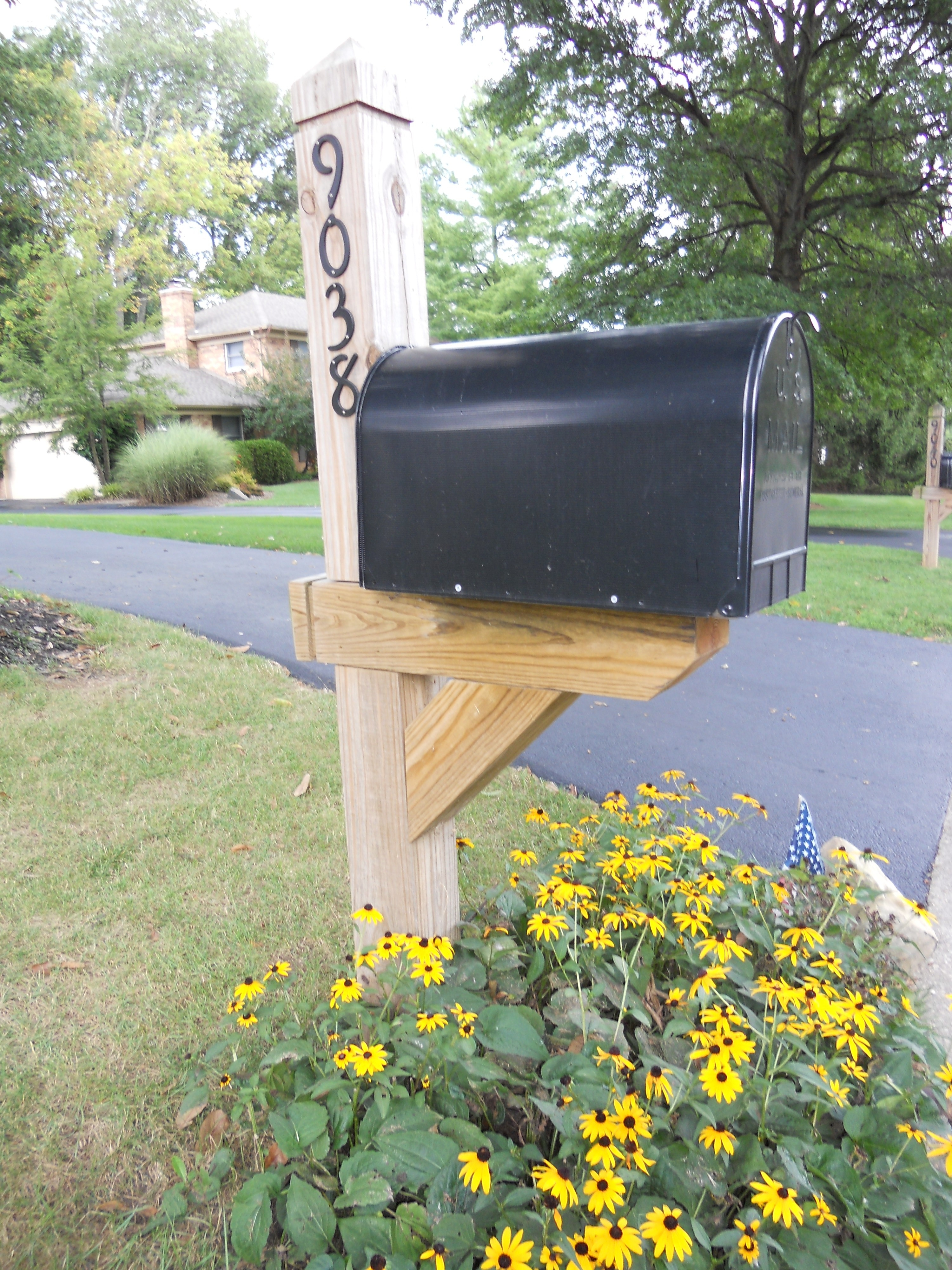 wood mailbox posts. Custom Wood Posts. Nice Mailbox Posts L